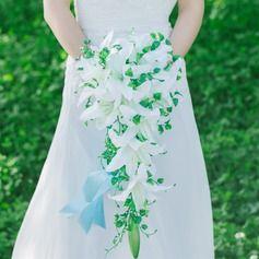 Prächtig Kaskade Kunstseide Brautsträuße