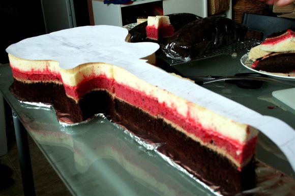 Guitar cake tutorial