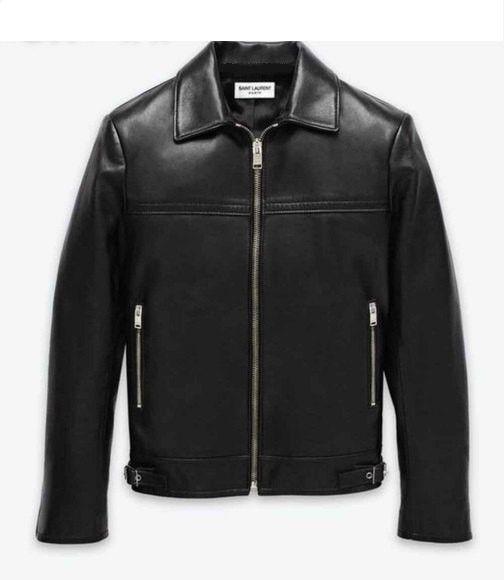 Men's Lamb Nappa Cafe Racer Leather Jacket