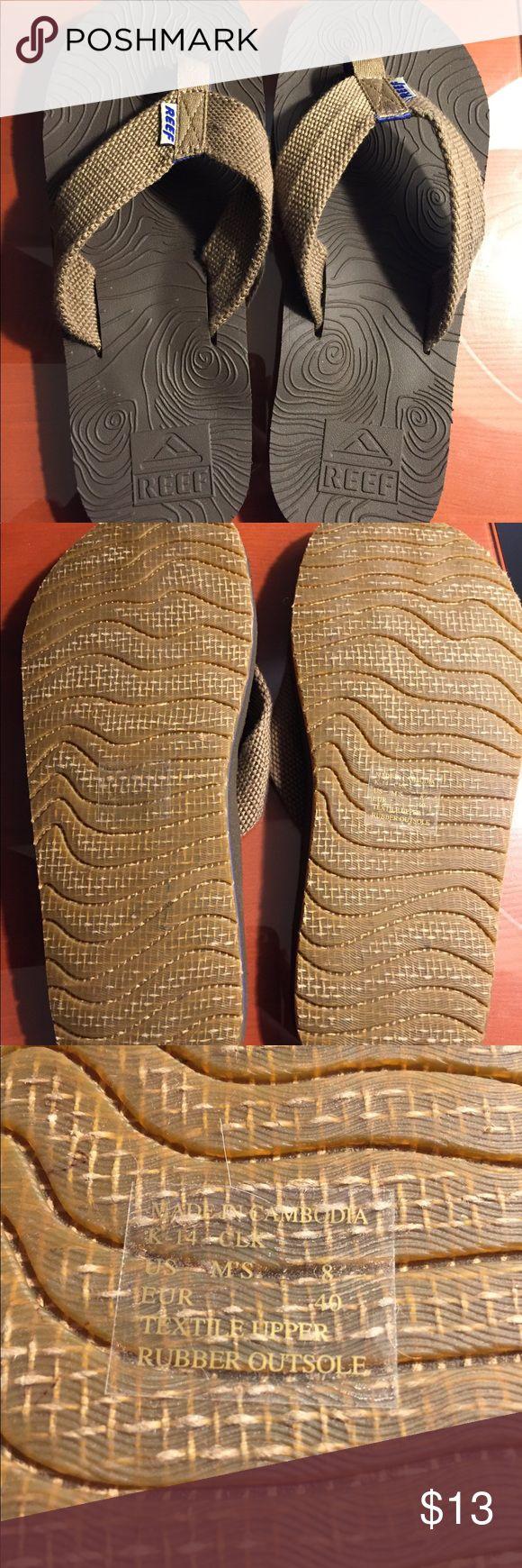 Unworn Reef flip flops NWOT, unworn, men's size 8 brown Reef flip flops Reef Shoes Sandals & Flip-Flops