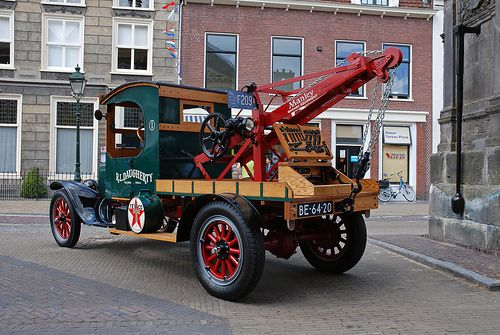 1925 Ford model TT tow truck