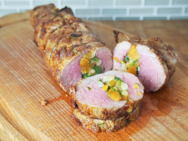 Spanish-style stuffed pork tenderloin