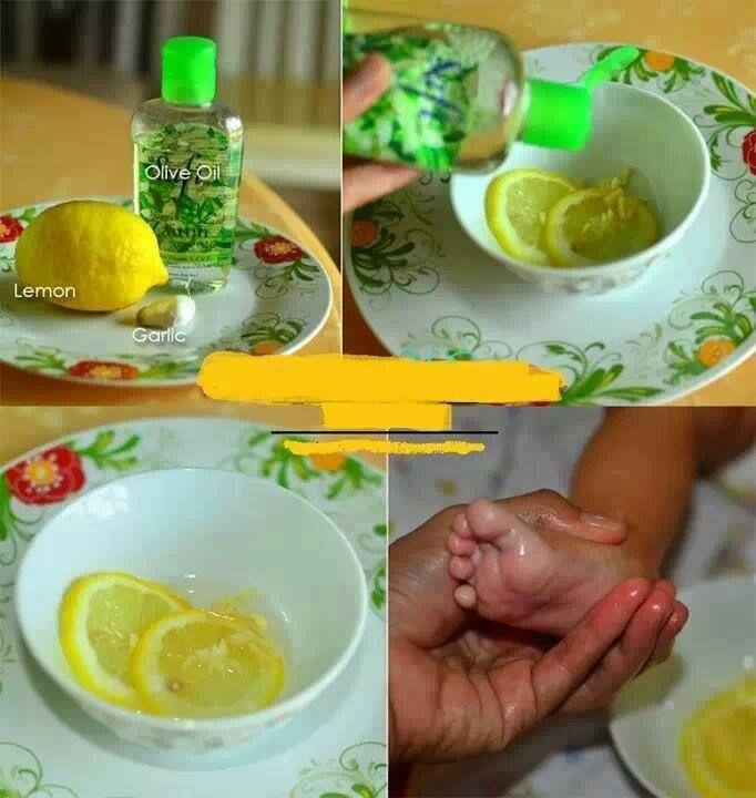 Tips rawatan semulajadi untuk demam selsema bagi bayi & kanak-kanak  Bahan-bahan:  Minyak zaitun Bawang putih Lemon  Cara 1: ======  1) Campurkan hirisan lemon, bawang putih dan minyak zaitun komersial.   2) Ramas campuran hingga mengeluarkan bau segar.  3) Gunakan campuran ini untuk mengurut tapak kaki, belakang badan atau bahagian lain.  Ia bg mengurangkan/merawat demam selsema yg amat mudah dijangkiti bayi dan kanak-kanak.