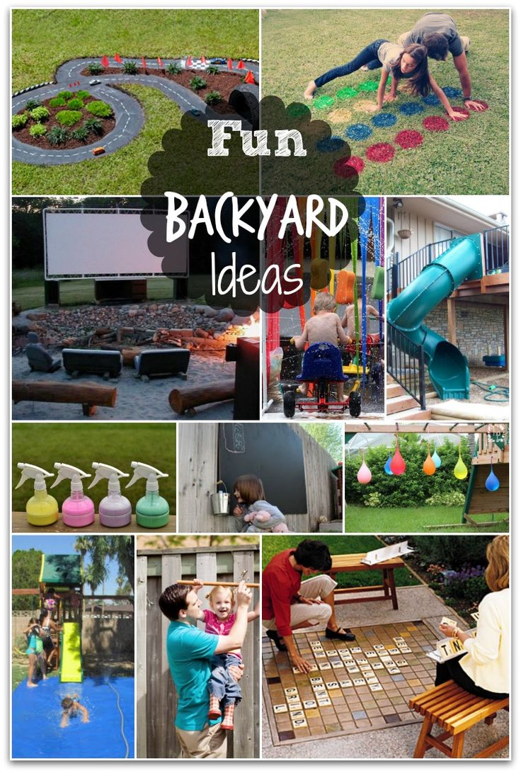 Lots of fun backyard activities for kids.