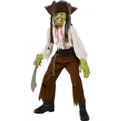 Costume bambino 7-9 anni, Pirata Zombi. Per Halloween e feste a tema. Disponibile da C&C Creations Store