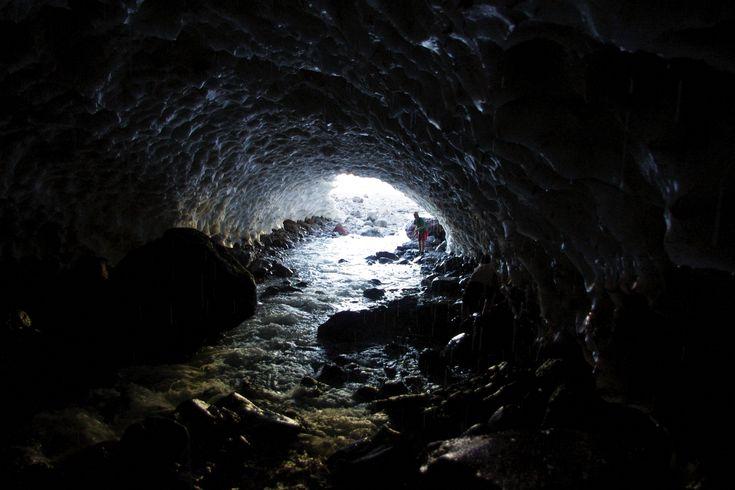 Ice caves in Parque Nacional Laguna Del Laja