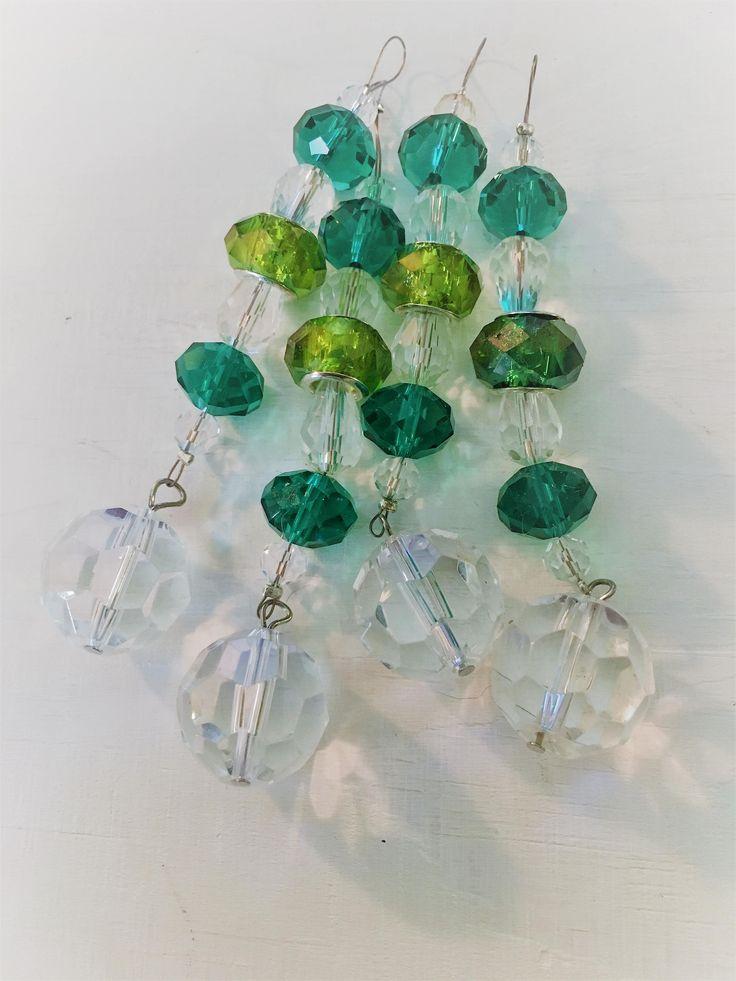 Mini Suncatchers ~ Envy Green Set of 4 by SkycladCreations on Etsy