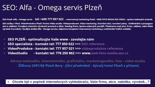 ALFA - OMEGA servis & WFB Media projekt  SEO Plzeň >>> https://plus.google.com/u/0/b/107761635126560811498/collection/krWVNE  #SEO #PLZEŇ – #optimalizace #webových #stránek #pro #internetové #vyhledávače.