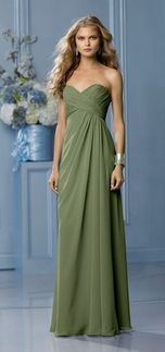 olive green bridesmaid dress I like this but would want it a few shades lighter