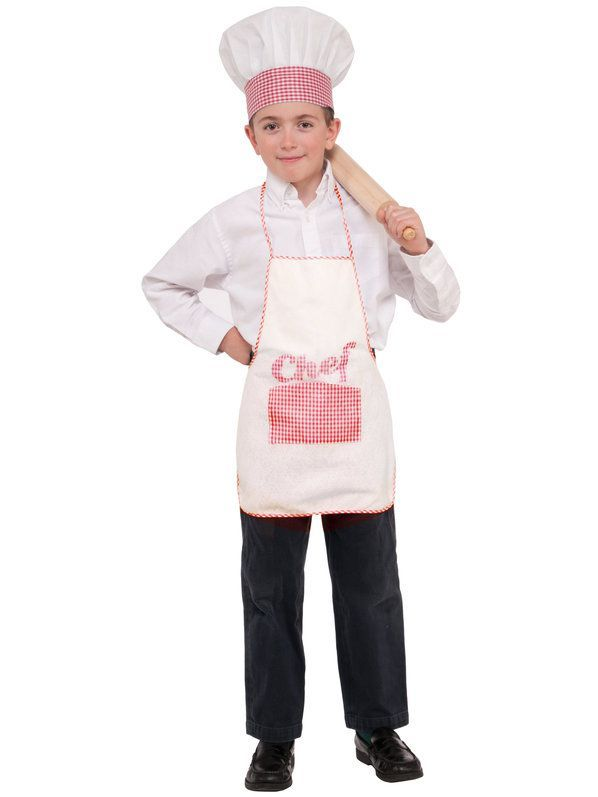 ff3a9b160460c Check out Child Chef Hat and Apron Set | Wholesale Halloween Costumes from  Wholesale Halloween Costumes