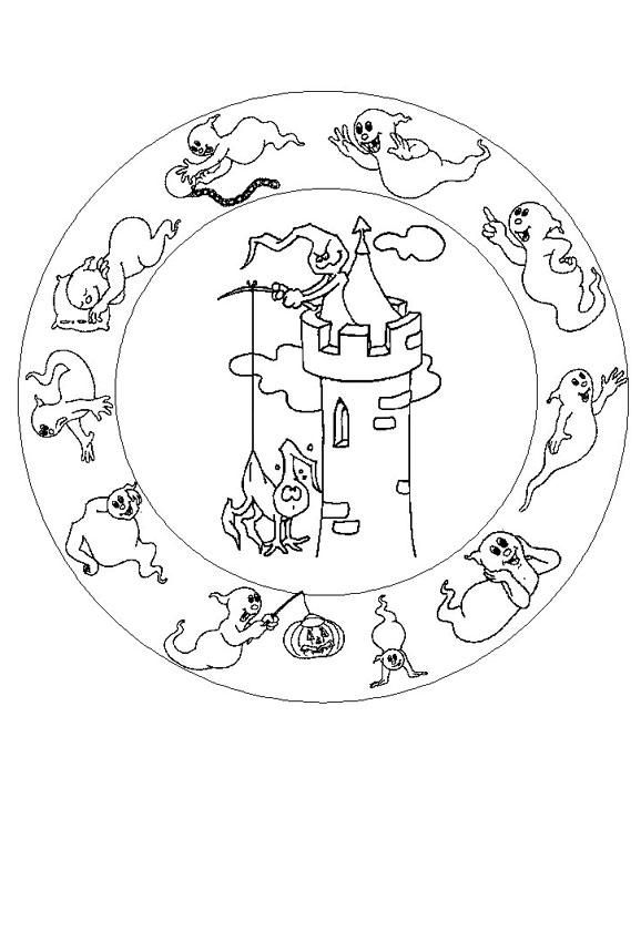 witch mandala coloring pages - photo#16
