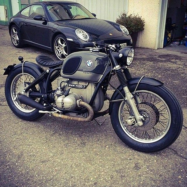BMW R100 airhead custom with solo seat