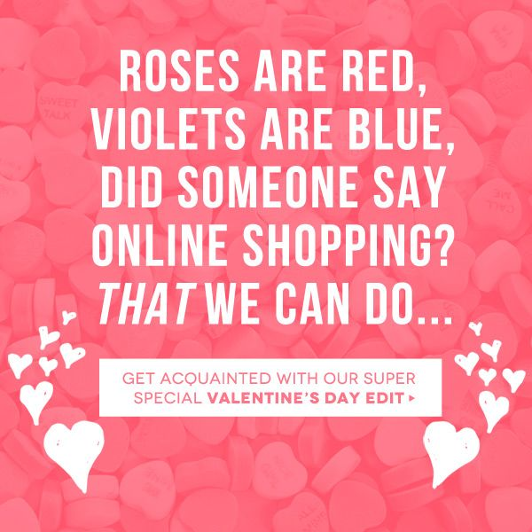 Nice Valentine's Day idea to promote the ease of online shopping