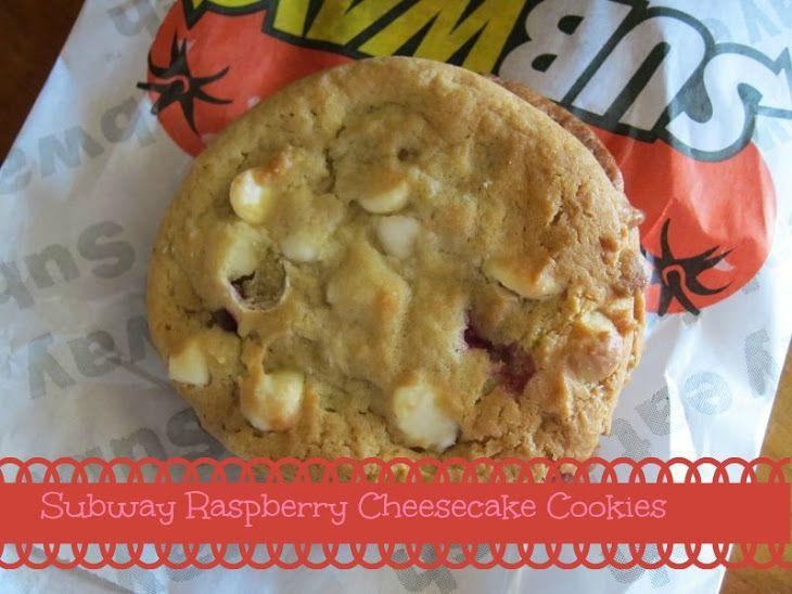 Subway White Chocolate Raspberry Cheesecake Cookie Recipe Recipe Raspberry Cheesecake Cookies White Chocolate Raspberry Cheesecake Cheesecake Cookies Recipes