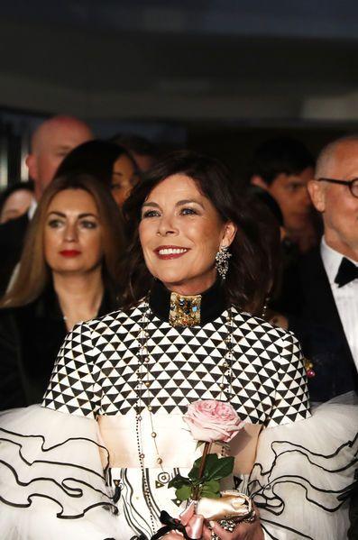 Still Beautiful & Elegant at 60 years old, Princess Caroline of Monaco, at the 2017 Rose Ball.
