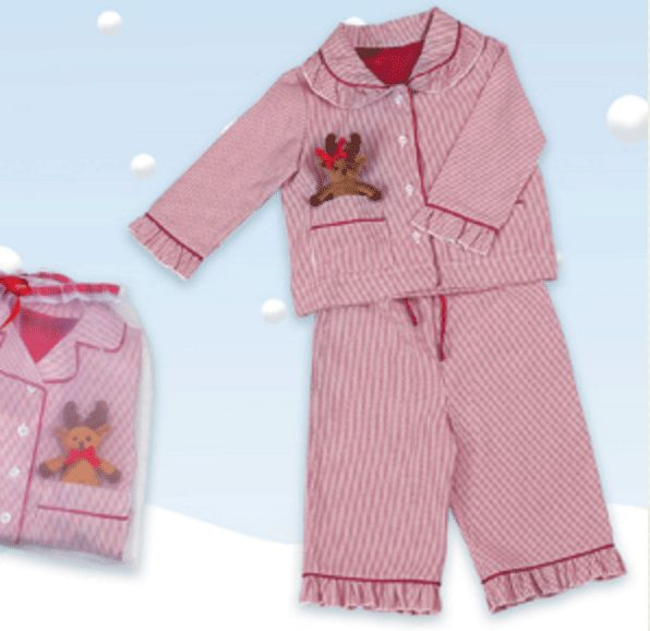 Boys & Girls Red and white stripped Pj's for the wee ones with a reindeer…