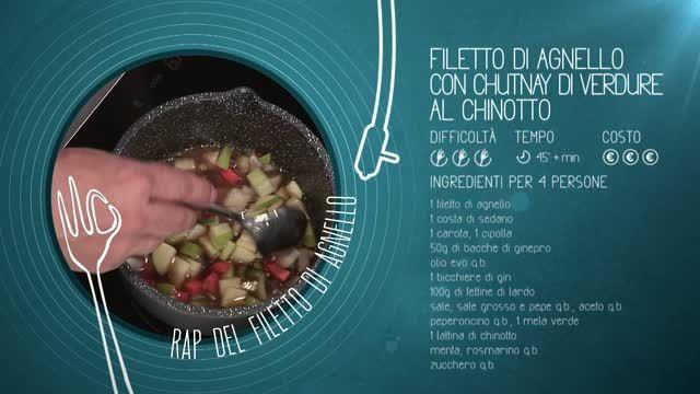 Alessandro Borghese Kitchen Sound - Filetto di agnello rap | Video Sky
