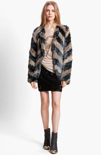 Zadig & Voltaire 'Lilo' Genuine Rabbit Fur Jacket available at #Nordstrom