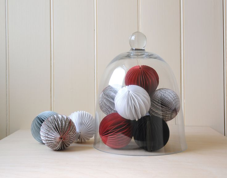 East of India Baubles! Pack of 2 - Red (Code 3457) White (Code 3455) Newsprint (Code 3459) Black (Code 3458) Grey (Code 3456)