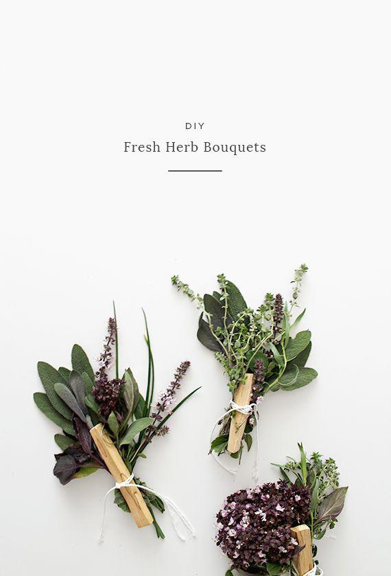 DIY fresh herb bouquets