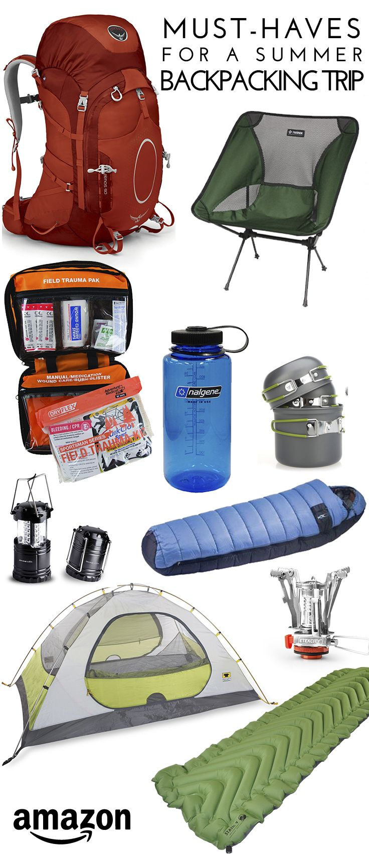 Must-have Gear for a Summer Backpacking Trip || Amazon.com