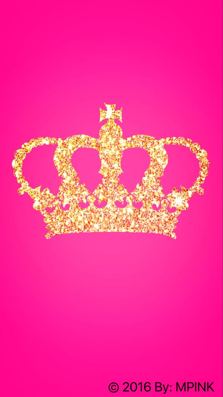 Vs pink iphone wallpaper tumblr - Glitter Princess Crown Wallpaper Created By Me