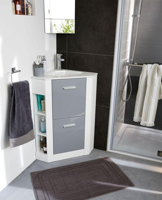152 best SDE intégrée chambre images on Pinterest Bathroom ideas - amenagement placard d angle cuisine