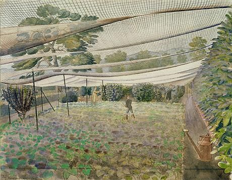 Eric Ravilious 'Strawberry nets'