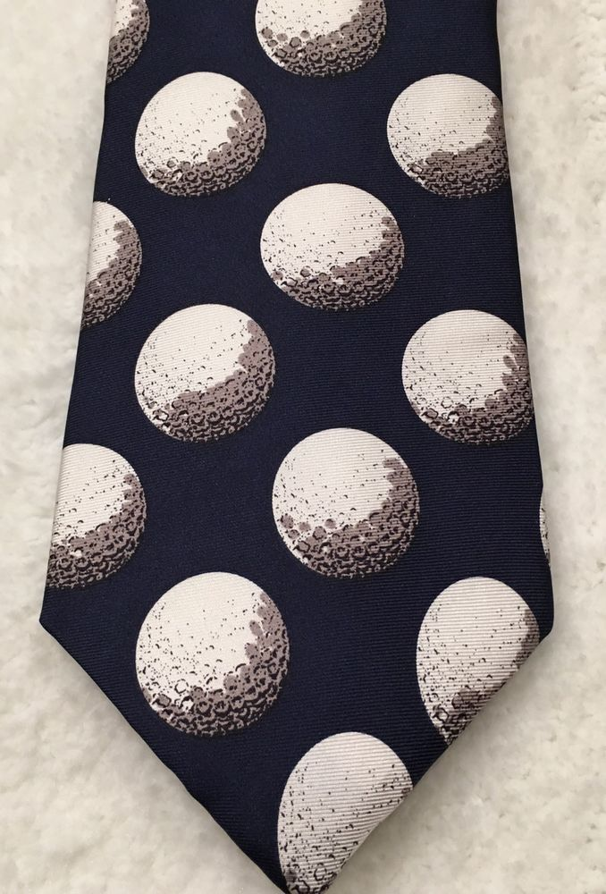 Woodward Golf Ball Necktie 100% Silk Made In USA Golfing Men's Novelty Tie #Woodward #Tie