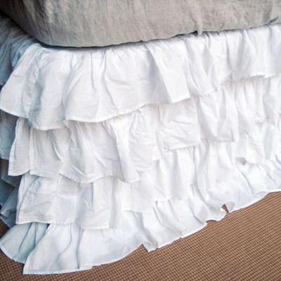 ruffle bed skirt.