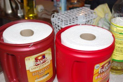 Homemade Wipes now I know what to do with those 50 million coffee containers my dad has been saving
