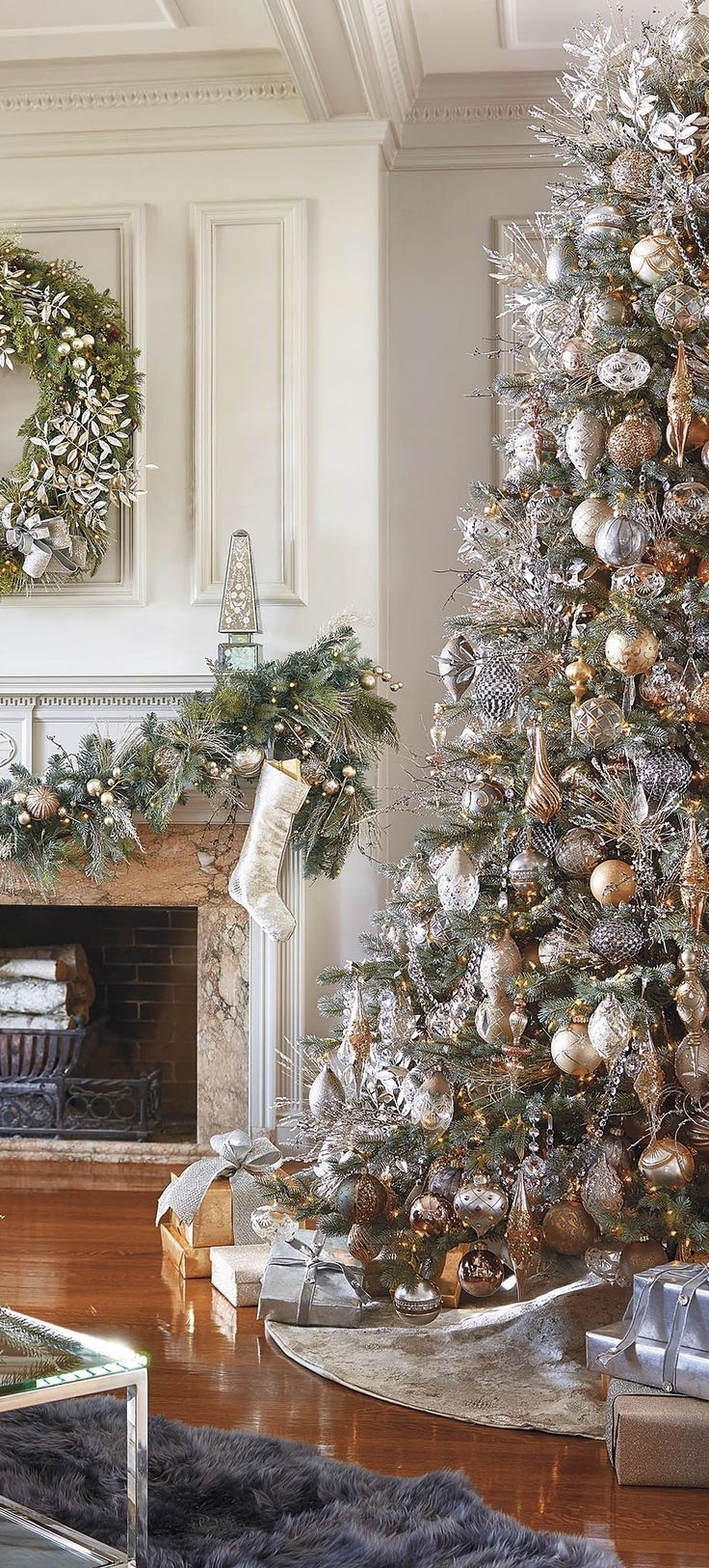 Beautiful christmas decoration ideas in white vintage