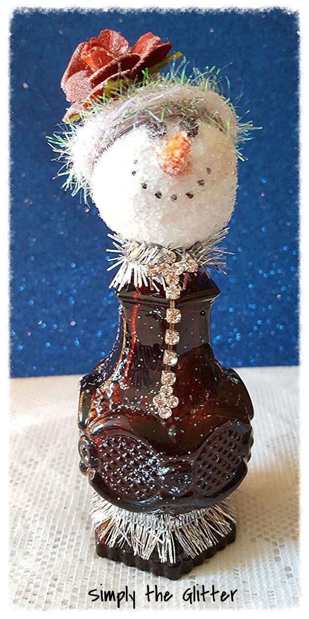 Snowman Assemblage Vintage Salt Shaker Snowman Della