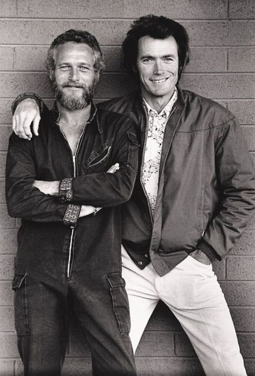 Paul Newman and Clint Eastwood #celebrities