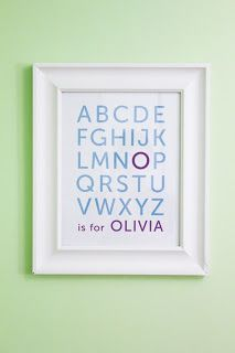 For any letter. Just a simple change and you could coordinate this for room colors for a baby shower gift!