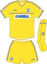 Tranmere Rovers away kit for 2002-04.