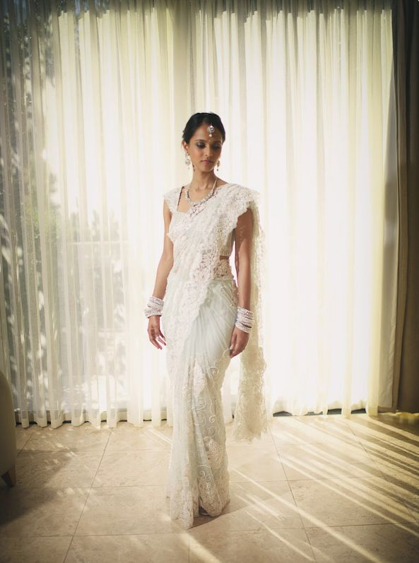 Lace Bridal Saree | Photo by Peartree Photography