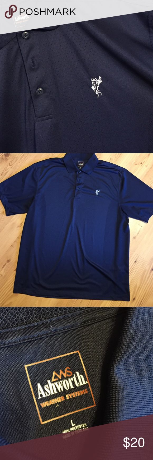 Ashworth Golf Shirt Bought this for the hubby and he never wore it!! Basically NWOT! Navy blue almost black Ashworth Shirts Polos