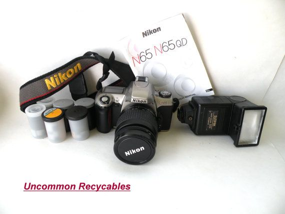 Nikon N65 35mm Camera Student  5 Rolls Film by UncommonRecycables