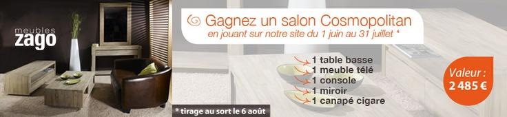 Zago news : Jeu Concours Cosmopolitan - Du 1 Juin au 31 Juillet 2012, gagnez un salon Cosmopolitan d'une valeur de 2485€