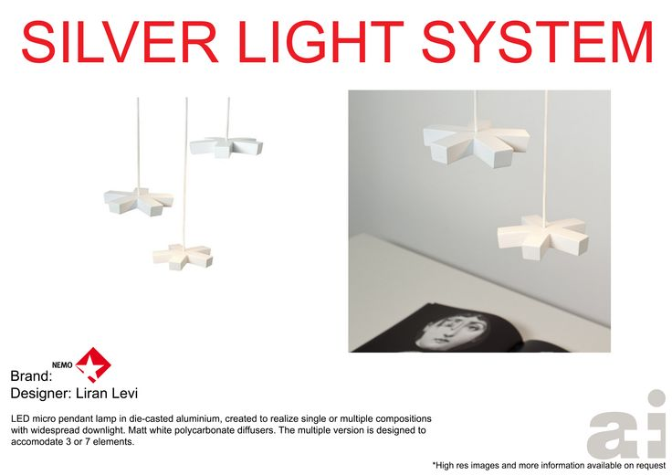 #Nemolighting #Silver Light System  available at www.afritaly.com