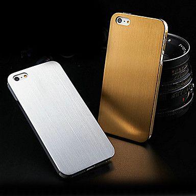 0.3mm tynd børstet aluminium hård sag for iphone 5/5s/5g (assorteret farve) – DKK kr. 45