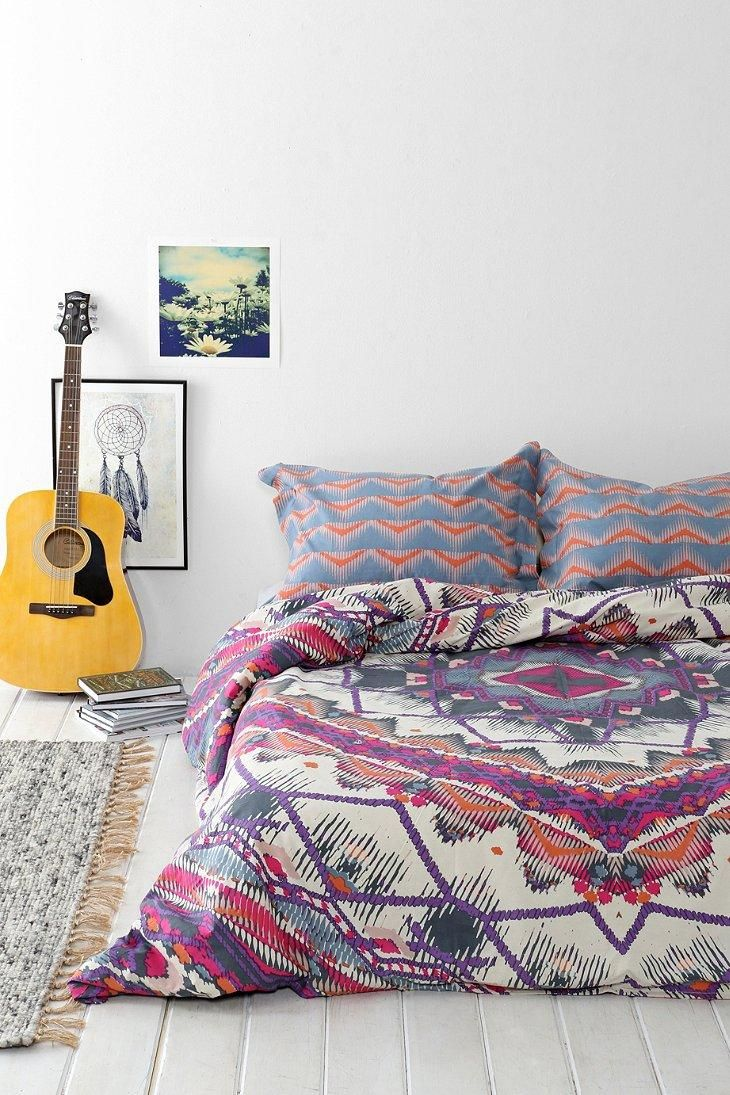 Magical thinking mountain medallion duvet cover urban Magical thinking bedding
