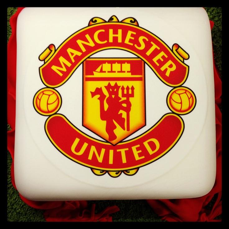 Manchester United Cake. 100% Edible. Vanilla sponge, vanilla buttercream and strawberry conserve.