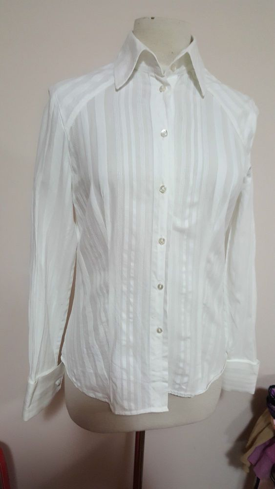Ladies RM Williams White long sleeve shirt size 8