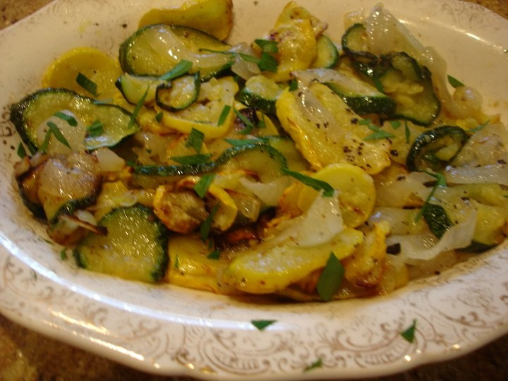 Roasted Yellow Squash, Zucchini and Onions | Syrup and Biscuits