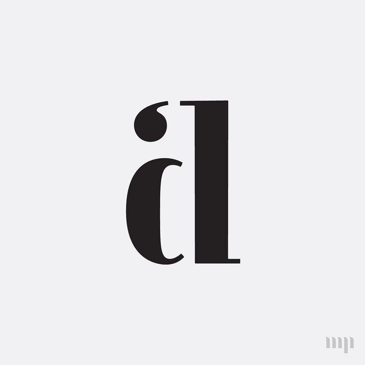 AD monogram by Hope Meng Design www.hopemeng.com // typography / type / logo / ligature / graphic design / letters / blackletter / The Monogram Project on Instagram @monogramproject