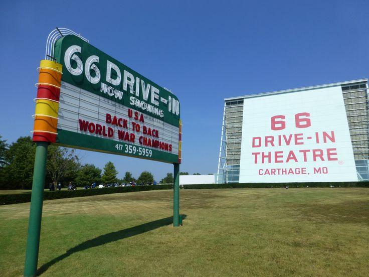 Old drive-in theatre in Carthagena. Missouri.