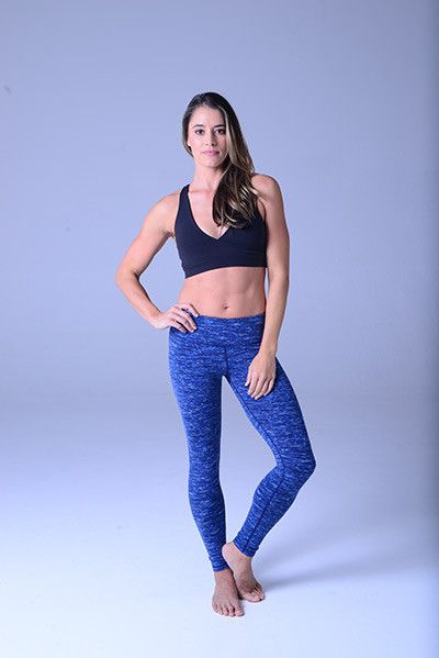 Glyder Elongate Legging: Nautical Space Dye | Gym Candy Activewear