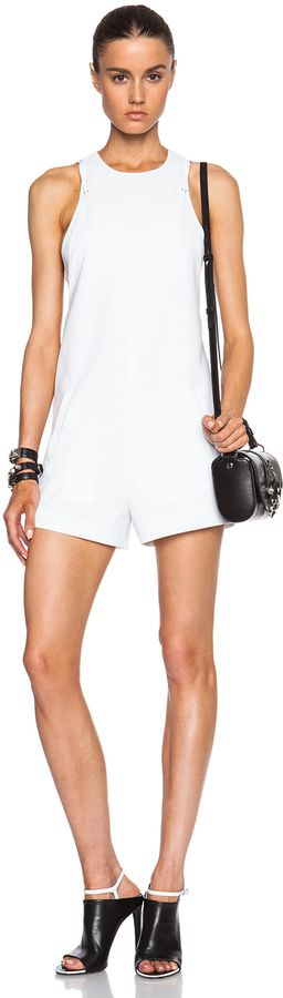 $289, Alexander Wang T By Bra Strap Back Camisole Romper. Sold by Forward By Elyse Walker. Click for more info: https://lookastic.com/women/shop_items/204367/redirect